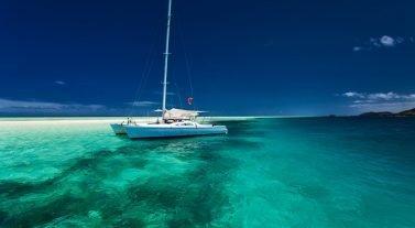 tahiti boat in the water