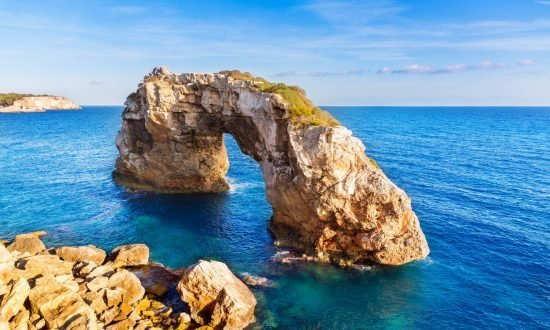 Rock formation in the balearic islands