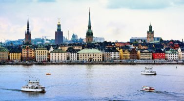 view of stockholm from the water