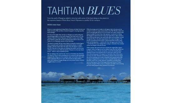 screenshot of article tahiti blues