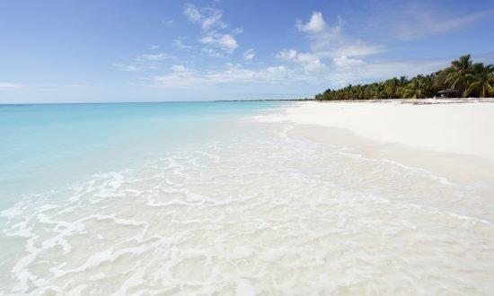 white sandy beach of Antigua and Barbuda