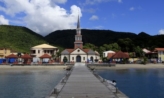 church in Anses d'Arlet village of Martinique