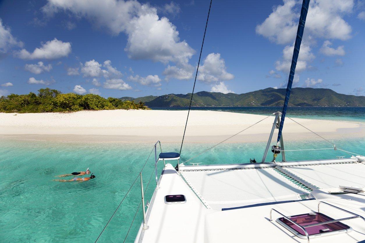 Plage sur les îles Vierges Britanniques
