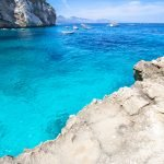 The water of Cala Mariolu beach in Sardinia