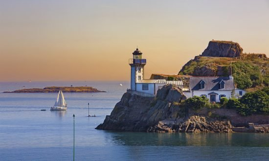 Lighthouse on the coast of Brittany