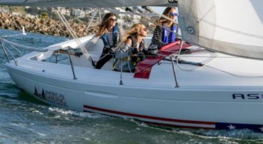 ASA and DYC women on the water