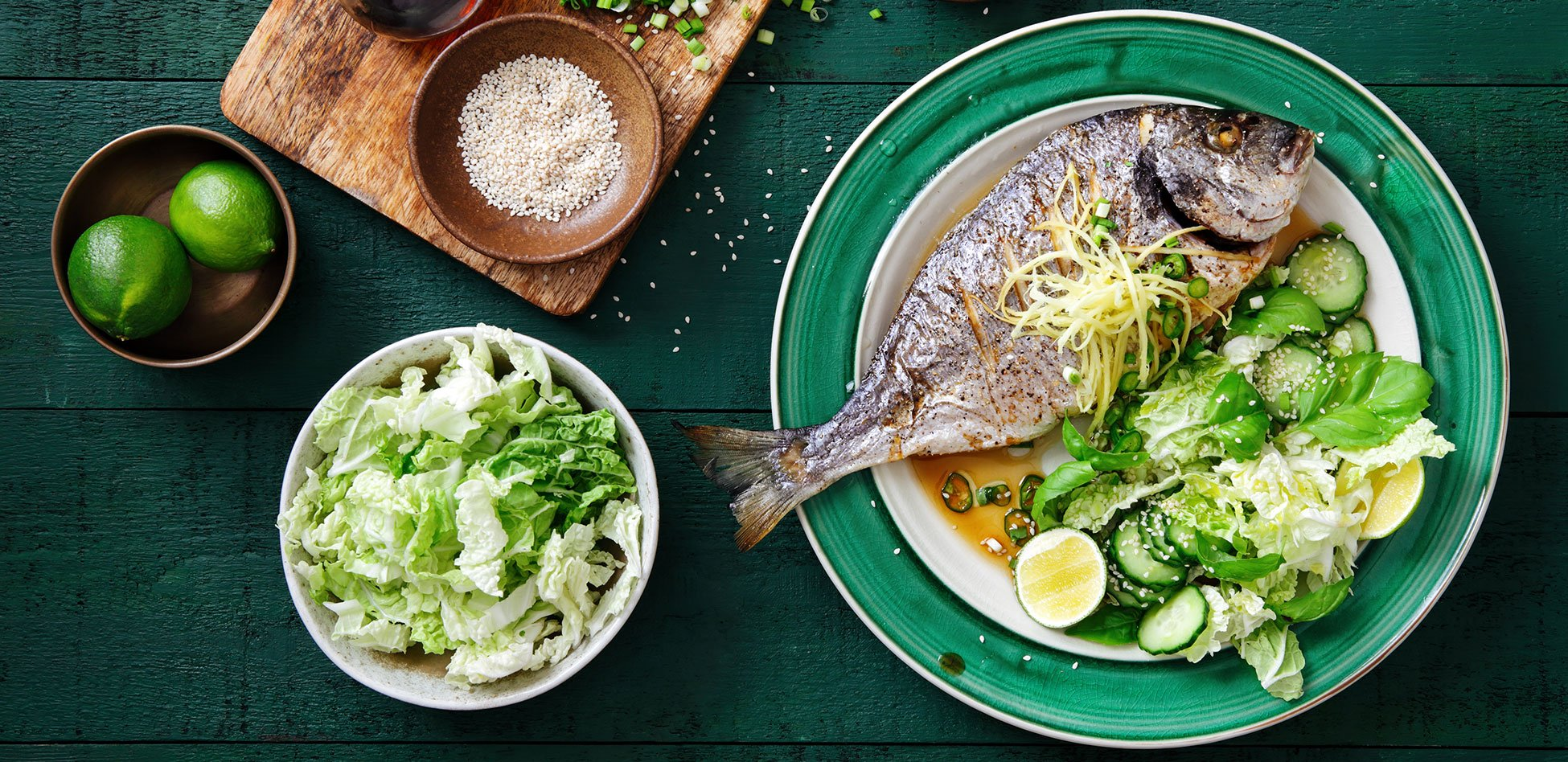 Grilled fish by Dream yacht charter