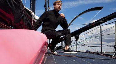Alex Thomson onboard the HUGO BOSS
