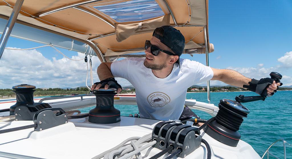 skipper on board a yacht