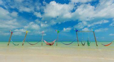 hammocks in Caribbean sea