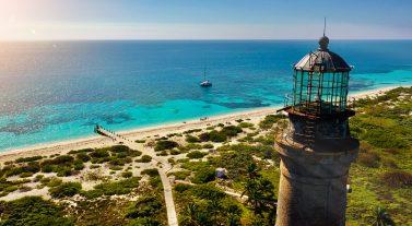 old lighthouse on island
