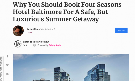 Four Seasons Hotel Baltimore report